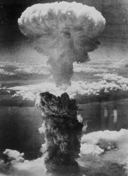 Explosão de Hiroshima, a 6 de Agosto de 1945.