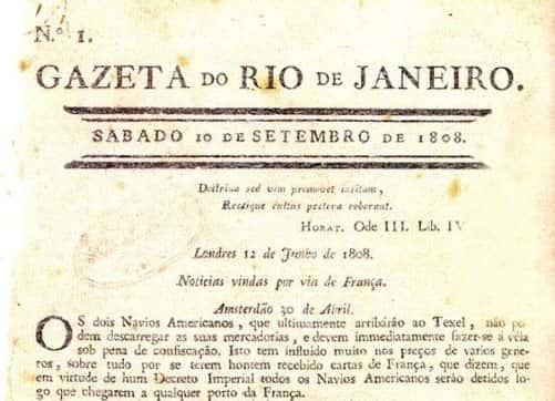 10 de Setembro, Fundação do Primeiro Jornal do Brasil