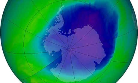 Atualmente, como está o buraco na camada de ozônio?