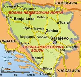 A guerra da Bósnia (1992-1995)