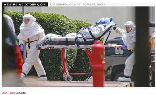 O primeiro caso de ebola nos Estados Unidos