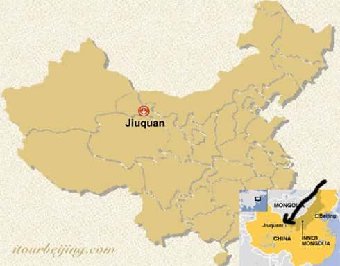 Mapa de Jiuquan