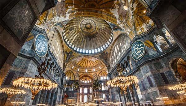Arquitetura Bizantina, Catedral de Santa Sofia Por Dentro