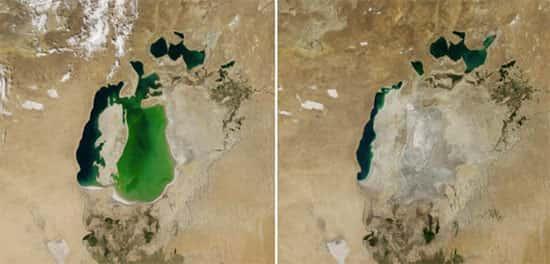 Mar de Aral, na Ásia