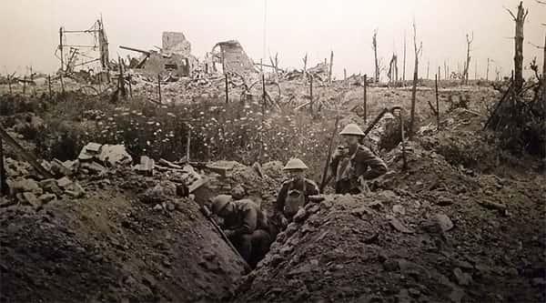 Trincheira soldados