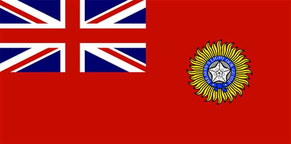 Bandeira da Índia britânica, British Raj
