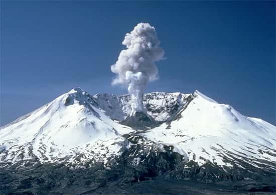 Início de uma erupcão