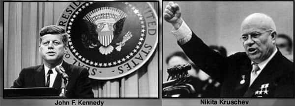 John Kennedy X Nikita Kruschev