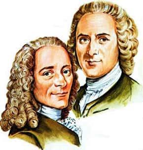 Ilustração - Voltaire e Rosseau