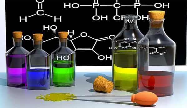 Elementos químicos, liquidos, experiências de laboratorio