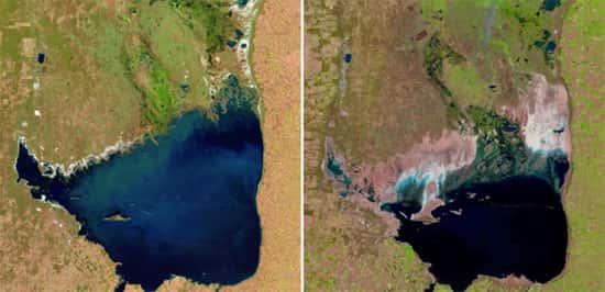 Lago Mar Chiquita, na Argentina