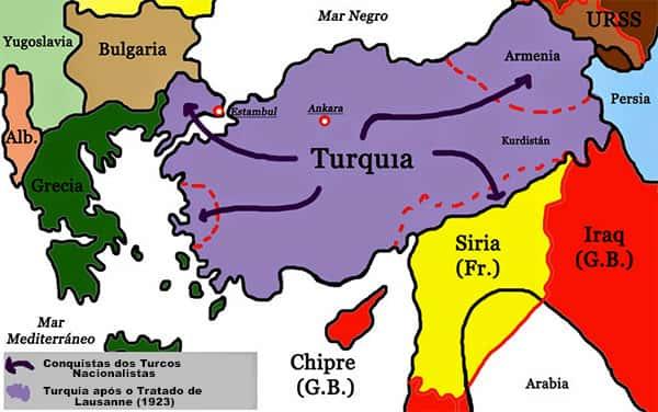 Mapa Independência Turca