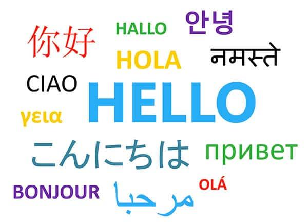 Olá em vários idiomas