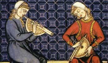 Tocando instrumentos medievais