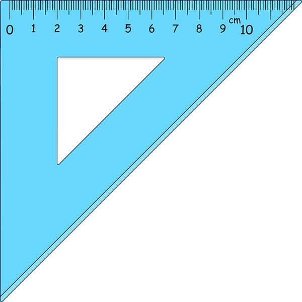 Triângulo, Régua