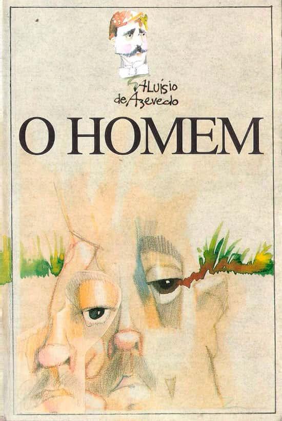Capa do Livro O Homem de Aluísio de Azevedo