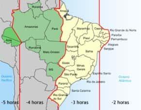 Novo fuso horario do Brasil