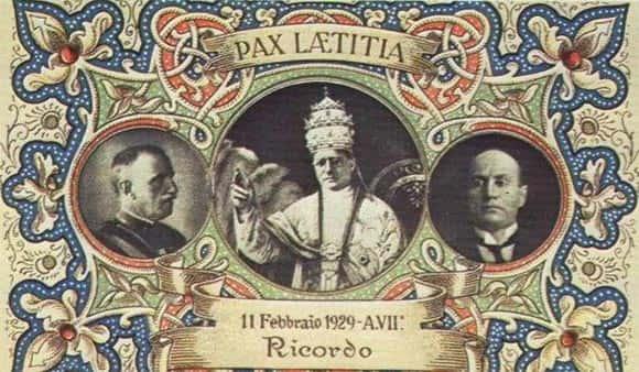 trato assinado entre a Itália e a Santa Sé em 1929