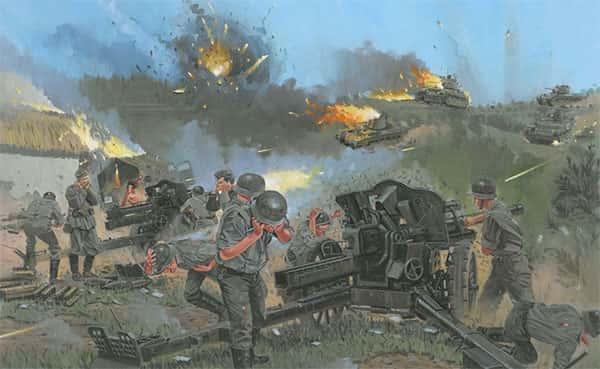 Ilustração/Pintura batalha da segunda guerra mundial