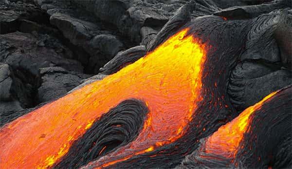 Lava, atividade vulcanica