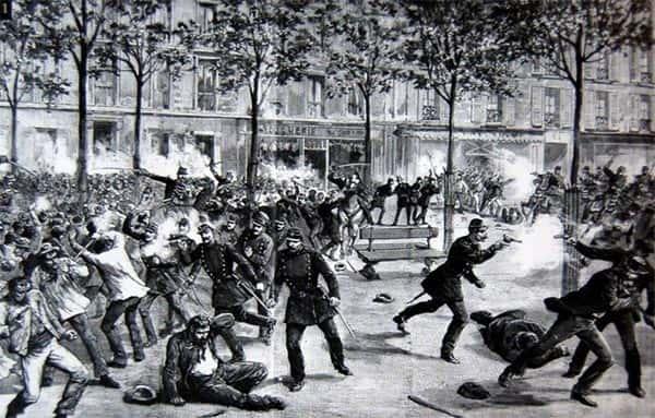 As manifestações dos trabalhadores por redução de jornada de trabalho para 8 horas, do 1º de Maio de 1886