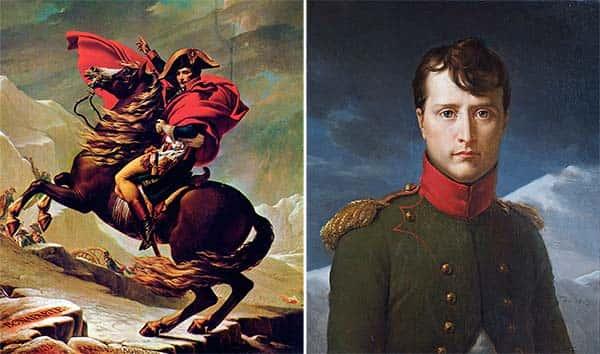 Foto Napoleão Bonaparte e Napoleão Bonaparte no seu cavalo