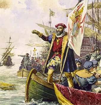 Vasco da Gama em suas navegações