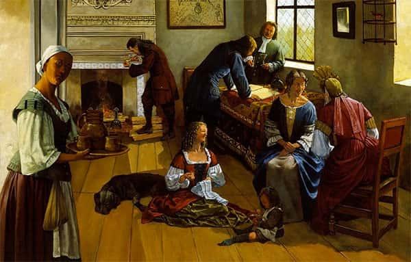 Pintura de 1690, Virgínia, Estados Unidos