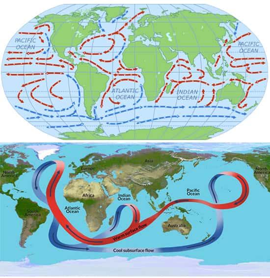 Correntes Oceânicas, correntes marítimas globais