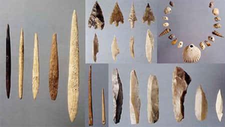 Instrumentos e armas de caça do Período Paleolítico