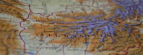 Carta topografica, Mapa topografico do Afeganistão
