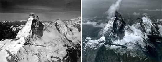 Montanha Matterhorn, na fronteira da Suíça com a Itália