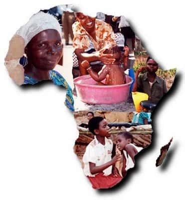 África, mapa pessoas
