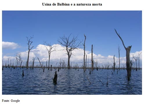Usina de Balbina e a natureza morta